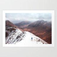 Snow Land Art Print