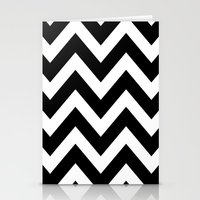 BLACK AND WHITE CHEVRON Stationery Cards