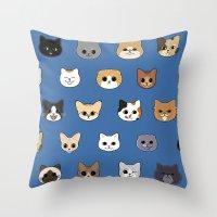 Happy Cats Throw Pillow
