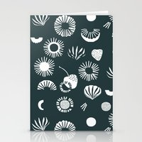 Seaflower mono Stationery Cards