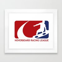 Hoverboard Racing League Framed Art Print