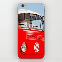 Red VW Bus Bold Print iPhone & iPod Skin