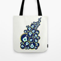 Tote Bag featuring Evil eye by Suburban Bird Designs
