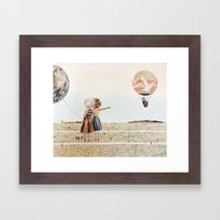 trip to the moon, collage Framed Art Print