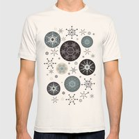 Snowflakes Part Deux Mens Fitted Tee Natural SMALL