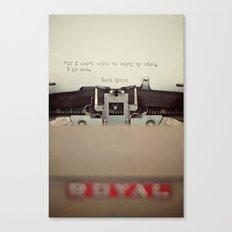 If. Canvas Print