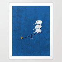No Balance Art Print
