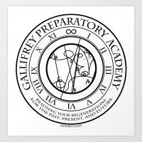 Gallifrey Prepatory Acad… Art Print