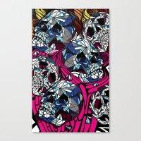 Glass Skulls  Canvas Print