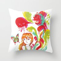 Pop Goes Disaster Throw Pillow