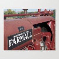 Farmall Equipment Canvas Print