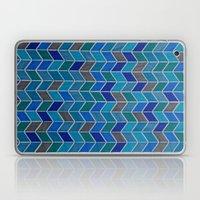 Blue and grey hue chevron Laptop & iPad Skin