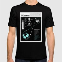 Apollo 11 Mission Diagra… Mens Fitted Tee Black SMALL