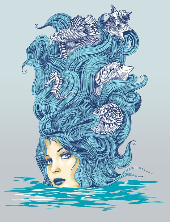 Ocean Queen Canvas Print
