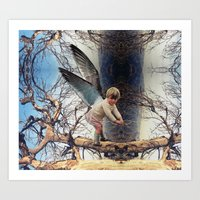 ANGEL IN A TREE Art Print
