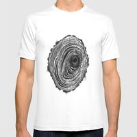 Tree Rings - Dark Mens Fitted Tee White SMALL