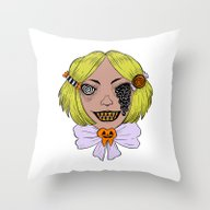 Throw Pillow featuring Licorice Melt by Ally Burke