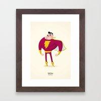 SHAZAM! Captain Marvel Framed Art Print