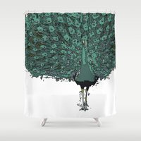 Peacock -blue Shower Curtain