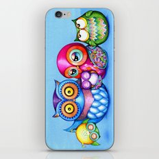 Crazy Owl Family  iPhone & iPod Skin