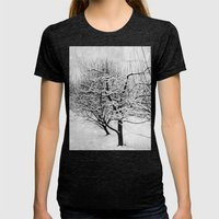 Blankets Of Snow Womens Fitted Tee Tri-Black SMALL