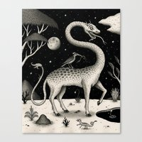 The Questing Beast Canvas Print