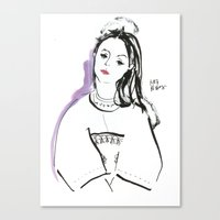 Mary - Girl In Marker An… Canvas Print