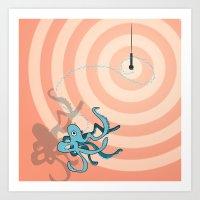 Singing Octopus Art Print