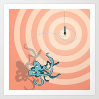 Singing Octopus Art Print
