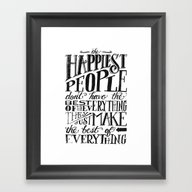 THE HAPPIEST PEOPLE... (… Framed Art Print