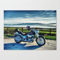 Harley Davidson, Middle … Canvas Print