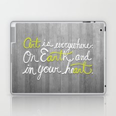 Art is everywhere: On Earth and in your heart. Laptop & iPad Skin