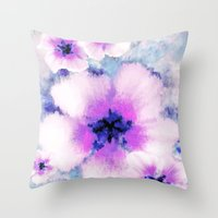 Rose Of Sharon Bloom Throw Pillow