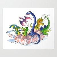 Mini Dinos Art Print
