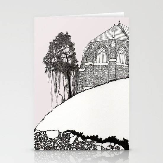 St. Vigeans (black and white) Stationery Card