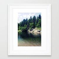 Water Hole Framed Art Print