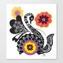 Indhi Swan Canvas Print