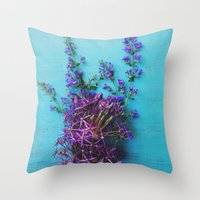 She Found Stray Flowers … Throw Pillow