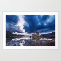 Stormy Skies over Eilean Donan Castle 2 Art Print