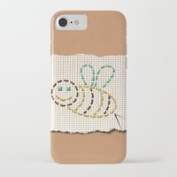 bee iPhone & iPod Cases featuring bee by gazonula