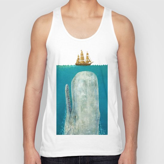 The Whale - square format Unisex Tank Top