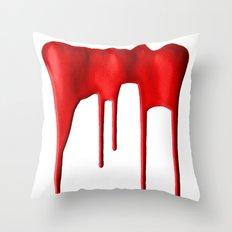 Red Splatter Throw Pillow