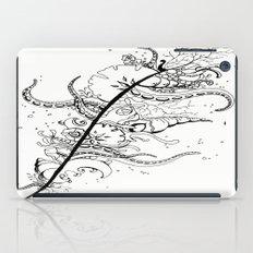 Abstract Art Unique Trending Bird Feather Sea Life Ocean Shells Sand Octopus  iPad Case