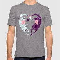 All Is Fair In Love And … Mens Fitted Tee Tri-Grey SMALL