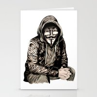 Anonymous Gangster Stationery Cards