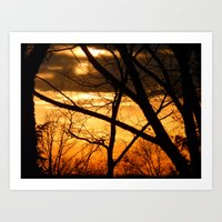 sunset 2012 Art Print