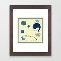 Colors: blue (Los colores: azul) Framed Art Print