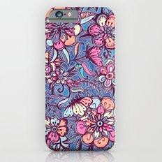 Sweet Spring Floral - soft indigo & candy pastels Slim Case iPhone 6s