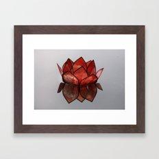 Glass Blossom on Water Framed Art Print