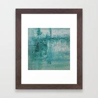 Aqua Plunge Framed Art Print